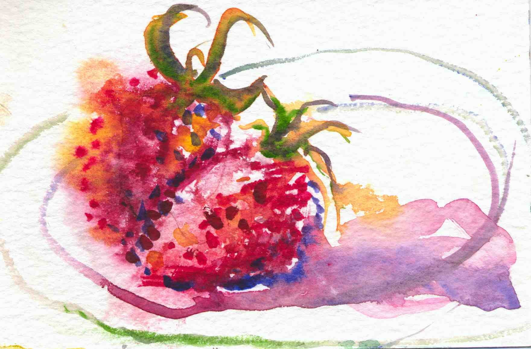 Watercolor Paintings Of Fruit AN EXHIBIT OF PAINTINGS WITH A