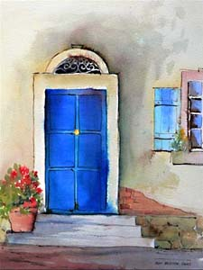 Windows and doors collection by artists of the aquanet art - La porte bleue en belgique ...